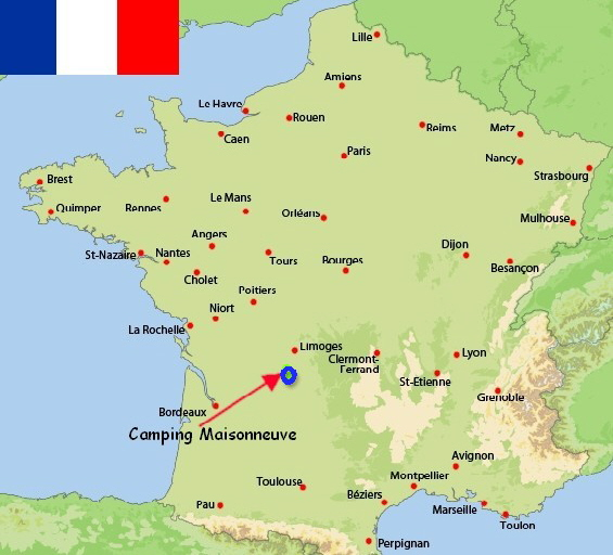 Camping Maisonneuve Dordogne Perigord France Frankreich Frankrijk